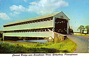Covered Bridge Gettysburg Pa Postcard Cs6770
