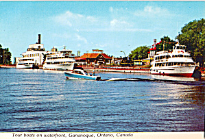Tour Boats on waterfront,Cananoque,Ontario (Image1)