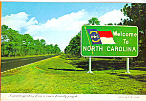 North Carolina Highway Welcome Sign cs6783 (Image1)