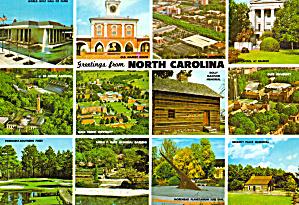 Multi View Postcard of North Carolina cs6787 (Image1)