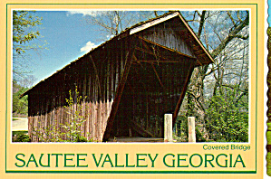 Covered Bridge Sautee Valley Georgia Postcard cs6805 (Image1)