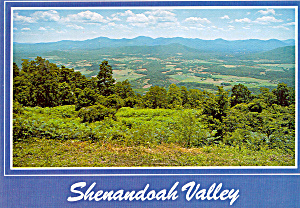Shenandoah Valley Virginia Postcard cs6840 (Image1)