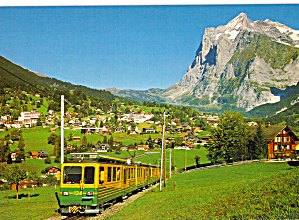 Passenger Train in Grindelwald, Switzerland cs6848 (Image1)
