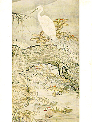 Flowers and Birds detail from a Japanese Painting (Image1)