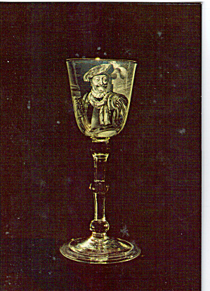 English Glass Goblet Engraved by Franz Greenwood (Image1)