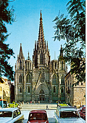 The Cathedral In Barcelona Spain Cs6990