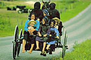 Amish School Girls Postcard cs7023 (Image1)