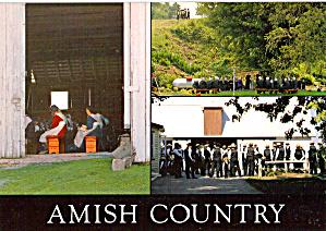 Amish Church Service Postcard cs7036 (Image1)