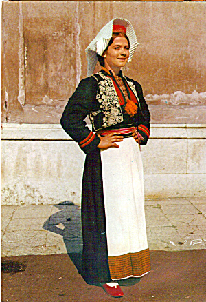 Woman in Native Costume from Konaavle Croatia cs7068 (Image1)