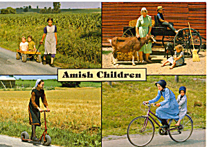 Amish Children, Pennsylvania Postcard cs7085 (Image1)