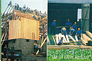 Amish Barn Raising, Pennsylvania cs7087 (Image1)