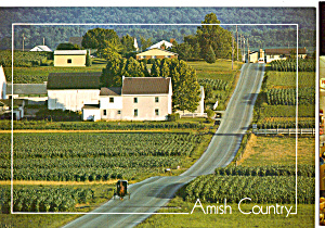 Amish Farm and Country Road, Pennsylvania cs7089 (Image1)
