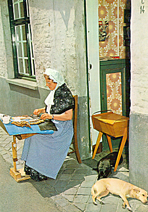 Lacemaker in Native Costume Bruge, Belgium (Image1)