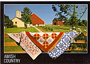 Amish Quilt Display on Farm Fence cs7150 (Image1)
