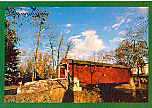 Covered Bridge In Pennsylvania Postcard Cs7158