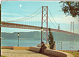 Bridge Across The Tagus River Lisbon Portugal Cs7172