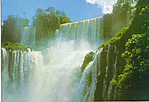 Bossetti Fall Brazil From Argentine Border Postcard cs7183 (Image1)