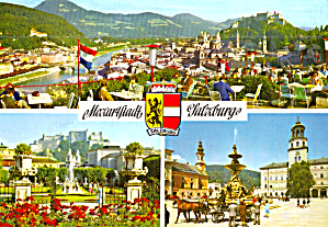 Three Views Of Salzburg Austria Cs7247