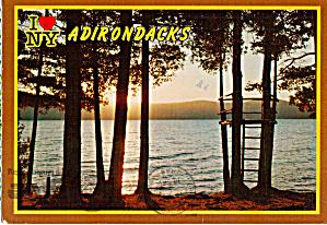 Sunset on a Adirondacks Mountain Lake NY cs7298 (Image1)