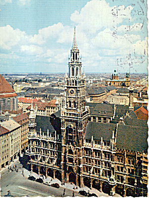 Munchen Germany Neues Rathaus Town Hall Cs7328