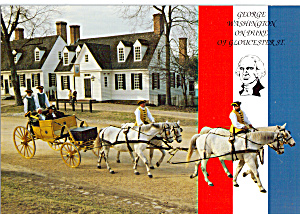 George Washington on Duke of Gloucester St Williamsburg VA cs7382 (Image1)