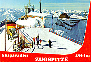 Ski Paradise Zugspitzbahn Gipfel Station At Mountain Top Germany Cs7461