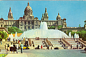 Royal Palace and Monumental Fountain, Barcelona, Spain (Image1)