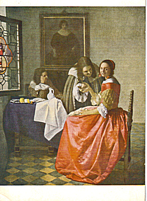 The Cavalier by Jan Van der Meer ou Vermeer Postcard cs7479 (Image1)