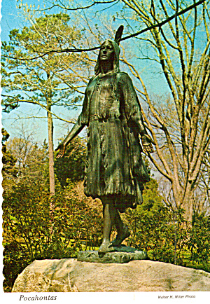 Pocahontas Statue  Jamestown  Virginia cs7486 (Image1)