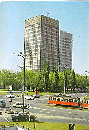 Lodz Poland Street Scene with Streetcars Trolleys cs7496 (Image1)
