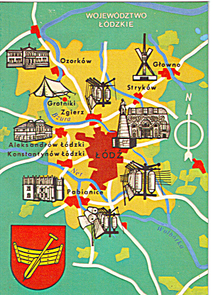 Map of  Areas of Lodz Poland (Image1)