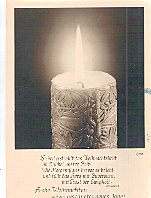 German Language Christma Postcard (Image1)