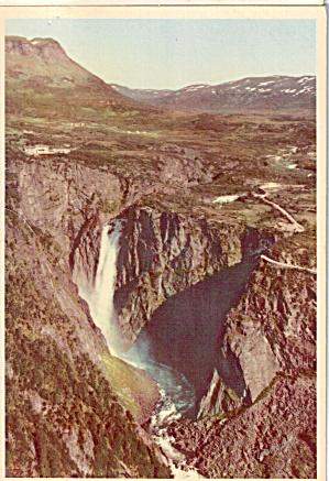 Voringfoss Waterfall  Fossli Mountain Hotel Eidfjord Area Norway cs7552 (Image1)