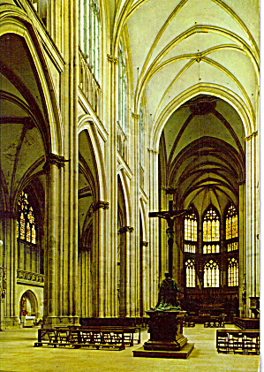Regensburg Bavaria Germany Cathedral Interior Cs7585