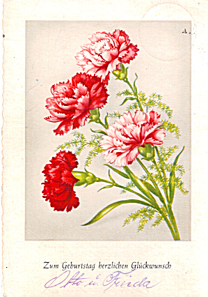 Birthday Postcard in German Language cs7587 (Image1)