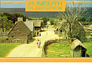 Main Street of Plimouth Plantation, Plymouth Massachusetts (Image1)