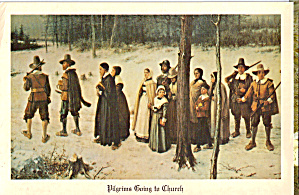 Pilgrims Going to Church, From a Painting (Image1)