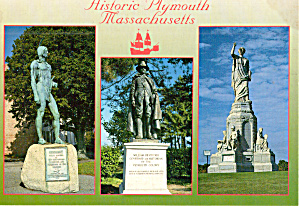 Plymouth Massachusetts Statues Monuments Cs7611