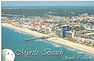 Aerial Of Myrtle Beach Looking Sw From North Of Pavilion Cs7612