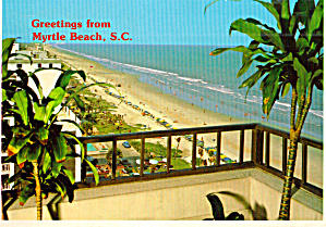 Myrtle Beach Sc Typical Balcony Scene Of Beach Cs7614