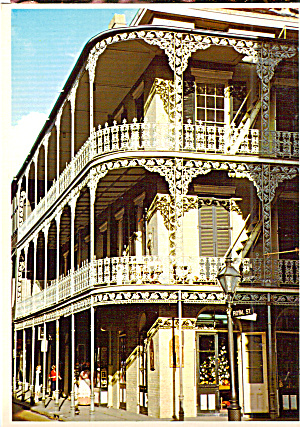 Lace Balconies Royal And St Peter Streets New Orleans La Cs7619