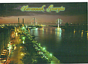 Night Time Along River Street  Savannah, Georgia (Image1)