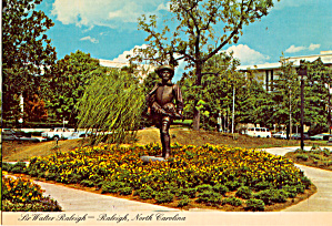 Sir Walter Raleigh Statue Raleigh North Carolina Cs7650