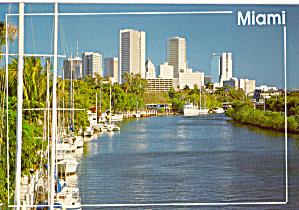 Skyline Miami Florida and Miami River cs7660 (Image1)
