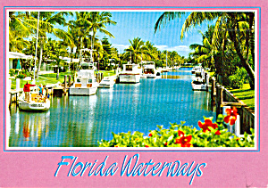 Florida Waterways Postcard Cs7664