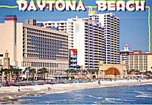 Beach Scene And Hotels Daytona Beach Florida Cs7673