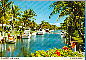 Boats On A Waterway In Florida Cs7685