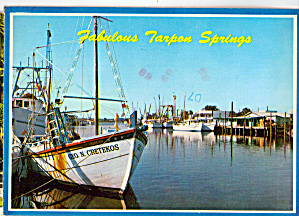 Sponge Boats At Tarpon Springs Florida Cs7687