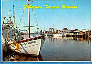 Sponge Boats Tarpon Springs Florida cs7698 (Image1)