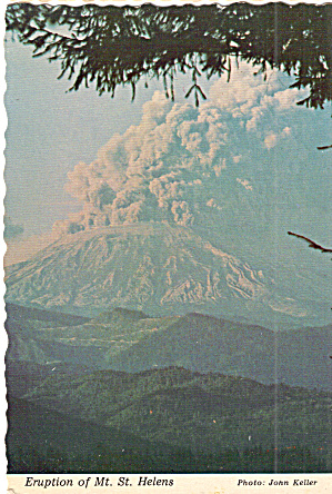 Eruption of Mt St Helens, Washington (Image1)